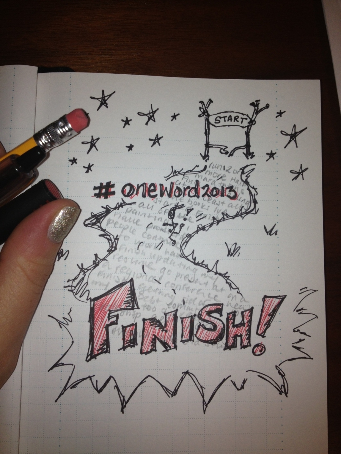my #oneword2013 - finish.